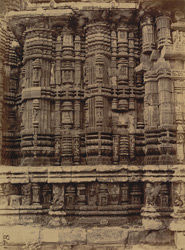 Close view of northern façade left of window and bhadraka of Ananda Vasudeva Temple, Bhubaneshwar